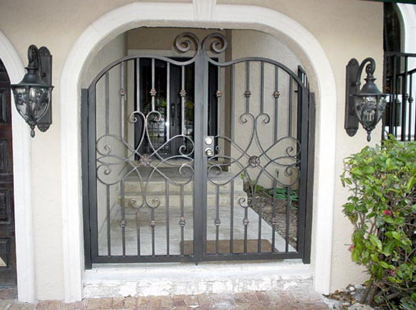 6 Ornamental Aluminum Swing Entry Gate Arched Torres